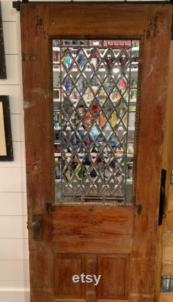 100 Year Old Door with Beveled Glass and Beautiful Trim