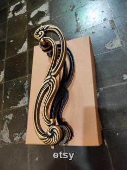 17.71 inches Pair 2pcs Set Vintage S Brass Door Handle Brass Dool Pull Big Door Pull