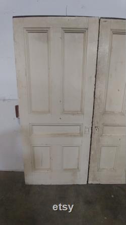 1890'S PANELED POCKET DOORS 182899