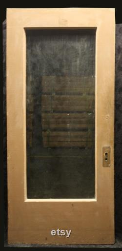 2 Available 36 x83 x1.75 Antique Vintage Old Salvaged Reclaimed SOLID Wood Wooden Exterior Entry Door Single Full Beveled Glass Lite Window