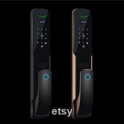 2020 Smart Door Lock Biometric Fingerprint Lock Security Password Electronic Lock Key IC Card Unlock APP Electronic Lock
