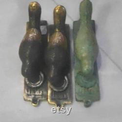 3 Small Light weight Bird Knocker 6 long Plate Solid Brass Front Door Knock Banger lost wax hand made rustic