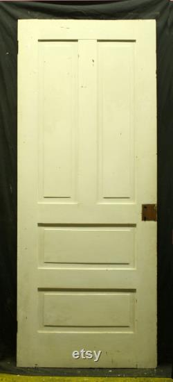 30 x77.5 Antique Vintage Old Reclaimed Salvaged Victorian Interior SOLID Wood Fir Wooden Doors 4 Raised Flat Panels