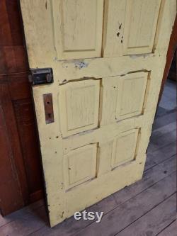 34 Italianate Door, Large Antique Door, Solid Wood Door, Chamfered Panels, Large Wood Door, Architecture Salvage, 8' Tall Door