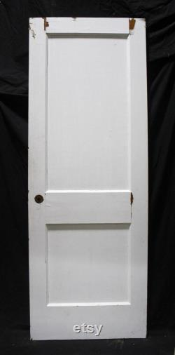 4 available 28 x77 Antique Vintage Old Reclaimed Salvaged Arts and Crafts Style Interior SOLID Wood Wooden Closet Door 2 Recessed Flat Panels
