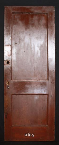 4 available 30 W Antique Vintage Reclaimed Salvaged Old Interior Solid Wood Wooden Door Flat Recessed Panel