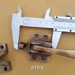 5 brass Rare Ice Box Catch Lever action roller and14 Hinges Age Style Heavy Solid Brass leadlight cabinet hand made rebated offset