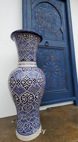 80 by 35 Handmade Moroccan blue door hand carved moorish geometric carving door for your bedroom or bathroom architectural wood artwork