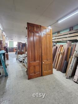 9' Antique Door Pair, Antique Double Door, Extra Tall, Nine Feet Tall, Salvaged Doors, Architecture Salvage, Large Double Door, French Doors