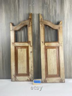 A Pair of Distressed Shutters Doors, Rusty Wooden Shutters, Farmhouse Pet Doors