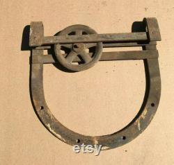 Antique Barn Door Slider Horseshoe Roller 8' Track Vintage Old 473-20B
