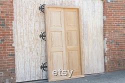 Antique Bleached English Colonial Teak Door with Frame, English Colonial Carved Doors, British Colonial Doors,Antique Anglo Indian Doors