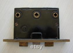 Antique Clinton Reading Hardware Company-RHC-Two-Way Interior Mortise Lock and Handle Set