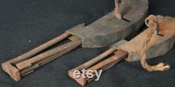 Antique Japan iron key locks 1800s architecture Tansu craft
