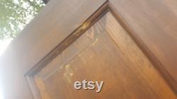 Antique Recessed Panel Wood Door, Interior, Building Supply, Architectural Salvage, Vented, Reclaimed, 6 Panel, Closet, Laundry 32 x 76 AL91