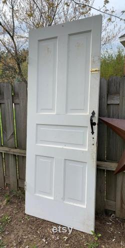 Antique Solid Wood Door, Recessed, Raised, Five Panel, Interior, Farmhouse, Replacement, Reclaimed, Pantry. Cabin. Cottage 30.5 X 78 CF92