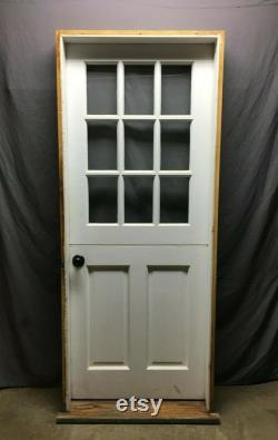 Antique Solid Wood Dutch Door 9 Lite 32x80 Shabby Entryway Chic White 410-21B LOCAL PICK UP