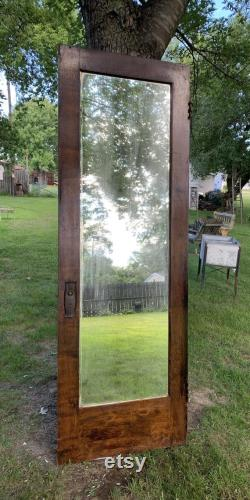 Antique Solid Wood Interior Door, Recessed Two Panel, Reclaimed, Architectural Salvage, Rustic Farmhouse Door, Restoration 27.75 x 83 CH68
