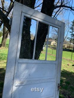 Antique Wood Entry Window Exterior Storm Window Door, Replacement, Reclaimed, Architectural Salvage, Farmhouse CX40 36 x 79 3 4 CX40
