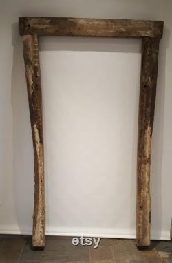 Antique oak door frame a rare late 16th Century carved oak Elizabethan ovolo stop moulded door frame in extremely original condition.