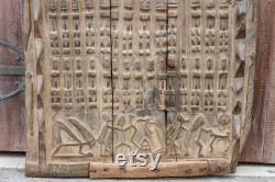 Antique oxidized Senufo Door,Antique African Door,African Tribal Door,Tribal Door Panel,Primitive Carved Door,African Antique,African panel