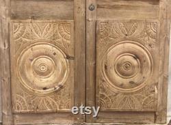 Antique panel doors (86.5x48) with iron C105