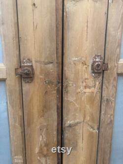 Antique panel doors with iron C091