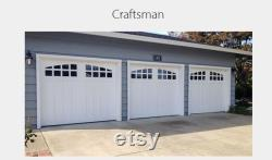 Aspen Craftsman Style Custom Wood Garage Door