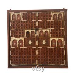 Authentic Moroccan Doors in Frame Hand-Carved Antique Wood Custom Made French Doors Riad Palace Casbah House Made in Morocco