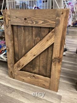 Barn Door Baby Pet Gate Wood baby gate farmhouse baby gate pet gate Custom gates Any size gate Handmade is USA Swinging Gate
