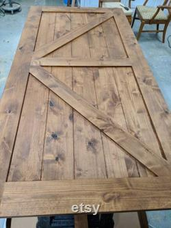 Barn door custom made, interior sliding door, rustic, farmhouse, industrial, solid wood, z brace, x brace, herringbone