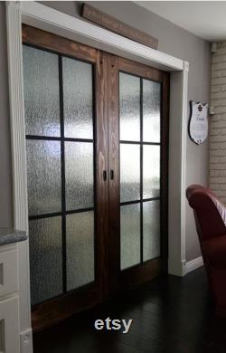 Beautiful Glass Barn Doors