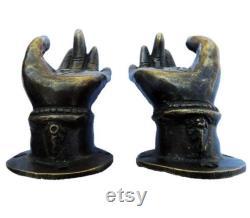 Bodhi Hand Small Brass Door handle handcrafted