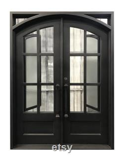 Cameroon Model Iron Door With Aqua Lite Glass Available Sizes 60 x 96 , 62 x 82 , 72 x 96 , 72 x 81 And 72 x 108