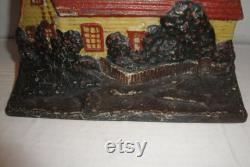 Cast Iron Cottage Design Doorstop Vintage By Eastern Specialty Mfg. Co. 1930's