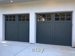 Cielo Herringbone Spanish Style Custom Wood Garage Door