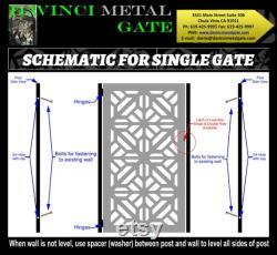 Contemporary modern metal gate,Modern Metal Gate , Custom size Art Pedestrian Walk Thru Entry Iron Steel Garden Designer.36 x48 .