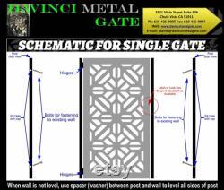 Contemporary modern metal gate,Modern Metal Gate , Custom size Art Pedestrian Walk Thru Entry Iron Steel Garden Designer.36 x48 .unpainted