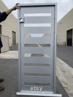Contemporary modern metal gate,Modern Metal Gate , Custom size Art Pedestrian Walk Thru Entry Iron Steel Garden Designer.36 x60 .
