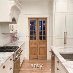 Custom Built Set of Glass French Doors- Sliding Barn Door, Hinge, Pocket Doors, Pantry Doors, Custom Antique Doors