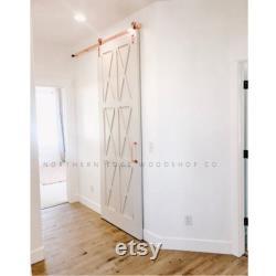 Custom Built Sliding Barn Door, Hinge, Pocket Door, X design