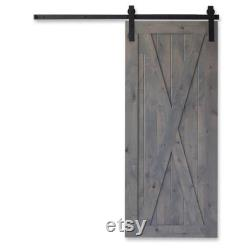 Custom Framed X Rustic Farmhouse Stained Sliding Barn Door Farmhouse Rustic Interior Doors -1 Door Only ( ASK FOR SHIPPING)