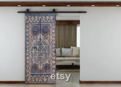 Custom Size Carved Barn Door, Entrance Front Door, Double or Single Sliding Antique interior Exterior Doors, Dining Table, Wall Art Decor