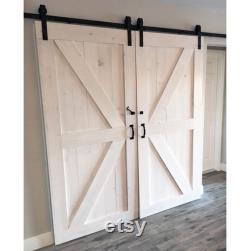 Custom Sliding Barn Door, Modern, Reclaimed, British Brace, Double Z pattern