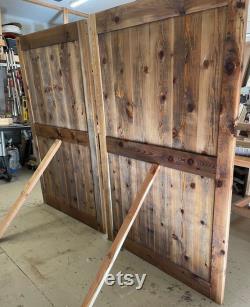 Custom made Barn Door Farmhouse Style rustic solid Cedar Wood Barn door Contact us For Custom Size, Color, Styles 48X80 inches