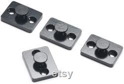 DIYHD Bi-Folding Sliding Barn Door Hardware,Black Flat Track Top Mount Roller Kit(Hardware only,not including door panel)