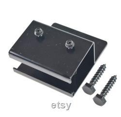 DIYHD Box Track Double Sliding Barn Door Hardware,Wall Mount Black Kit