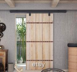DIYHD Ceiling Mount Black Box Track Sliding Barn Door Hardware