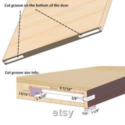 DIYHD Concealed Sliding Barn Door Hardware Soft Closing Interior Wall Mount Hidden Track Rolling Kit