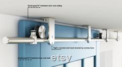 DIYHD Stainless Steel Flat Roller Ceiling Mount Sliding Barn Door Hardware